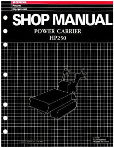 Official Honda HP250 Power Carrier Shop Manual