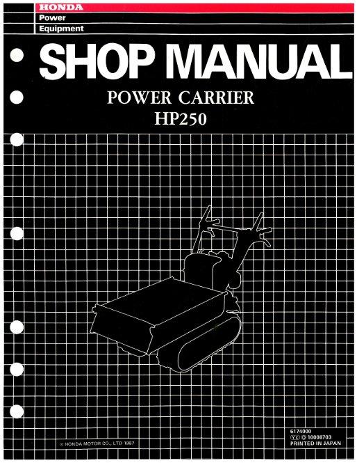 Honda HP250 Power Carrier Shop Manual