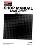 Official Honda HR173 Lawn Mower Shop Manual