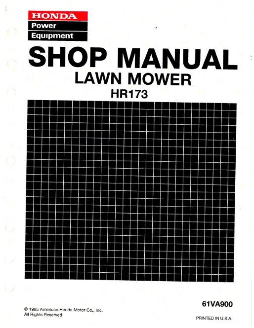honda lawn mower service manuals online