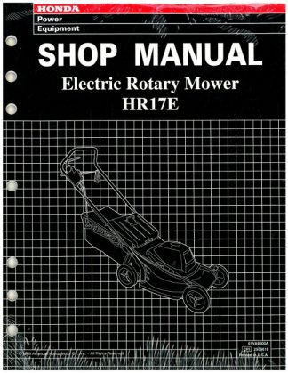 Official Honda HR17E Lawn Mower Shop Manual