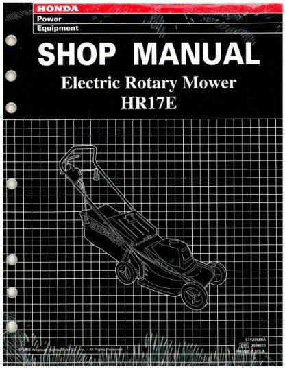 Official Honda HR17E Lawn Mower Shop Manual