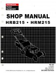 Official Honda HRB215 HRM215 Lawn Mower Shop Manual