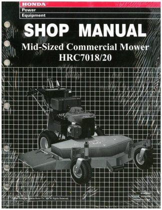 Official Honda HRC7018 HRC7020 Commercial Mower Shop Manual