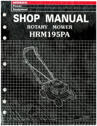 Official Honda HRM195PA Lawn Mower Shop Manual