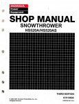 Official Honda HS520A HS520AS Snowthrower Shop Manual