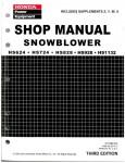 Official Honda HS624 HS724 HS828 HS928 HS1132 Snowblower Factory Shop Manual