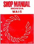 Official Honda WA15 Water Pump Shop Manual