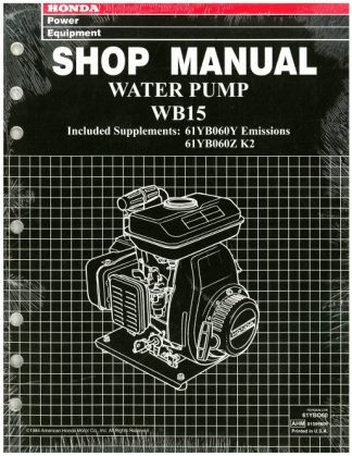 Official Honda WB15 Water Pump Shop Manual