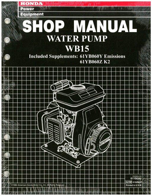 honda wb water pump shop manual
