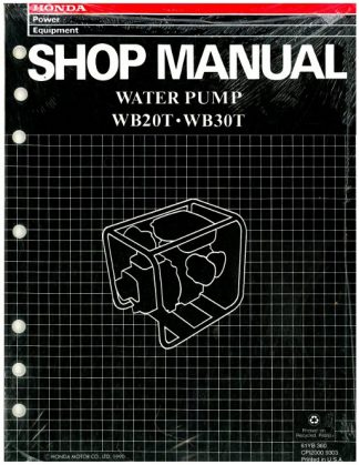 Official Honda WB20T And WB30T Water Pump Shop Manual