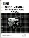 Official Honda WMP20X Water Pump Shop Manual