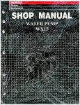 Official Honda WX15 Water Pump Shop Manual