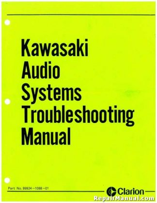 Kawasaki Voyager Clarion Audio Systems Troubleshooting Manual