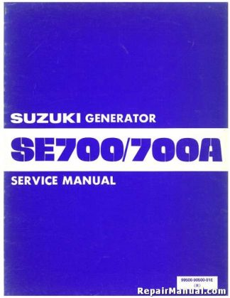 Official Suzuki SE700 SE700A Generator Service Manual