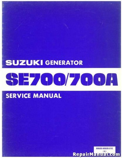 Official Suzuki SE700 SE700A Generator Service Manual