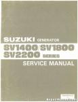 Official SV1400 SV1800 SV2200 Suzuki Generator Service Manual