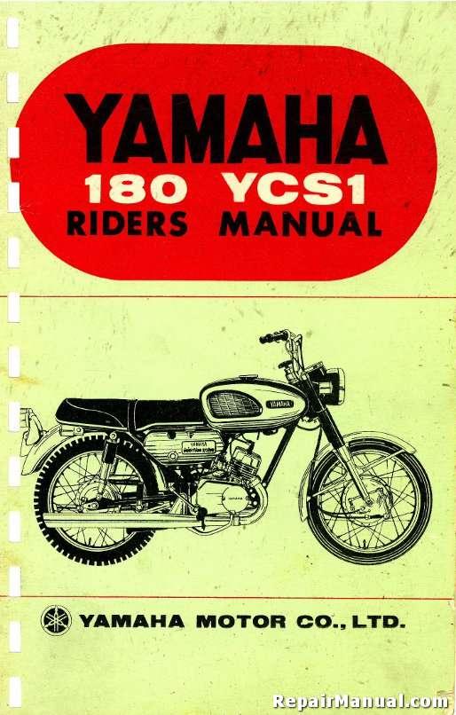 yamaha 180 ycs1 riders manual rh repairmanual com
