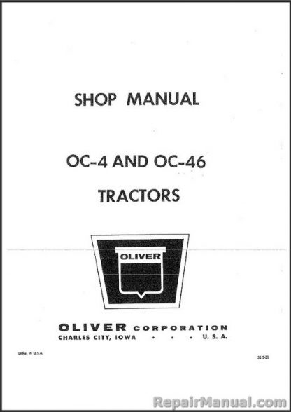 Oliver OC-4, OC-46 Crawler Tractor Service Manual