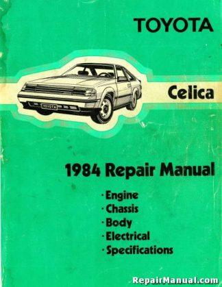 1984 Toyota Celica Factory Repair Service Manual