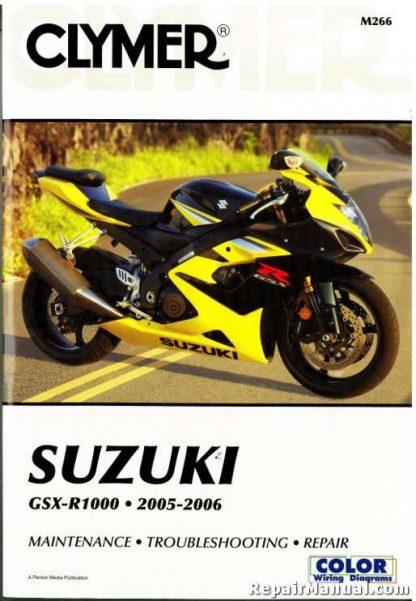 Suzuki GSX-R1000 Repair Manual 2005-2006 Clymer