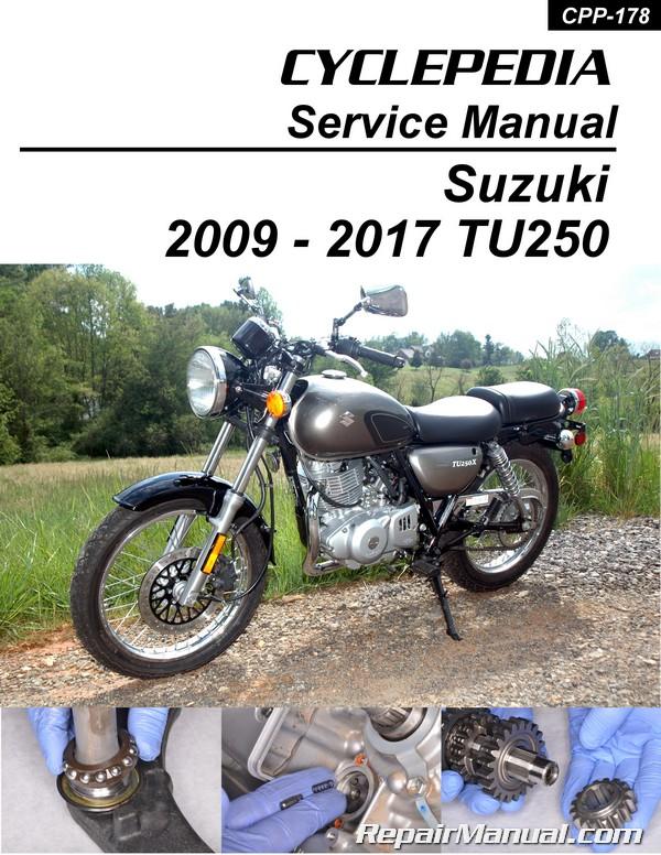 Suzuki TU250X 2009 – 2017 Motorcycle Printed Service Manual by Cyclepedia
