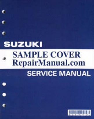 Used 2000 Suzuki DR-Z400 E Motorcycle Factory Service Manual
