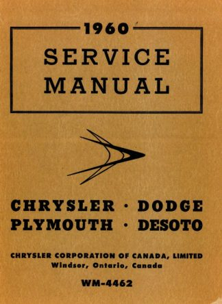 1959-1960 Chrysler Dodge Plymouth Desoto Imperial Service Manual