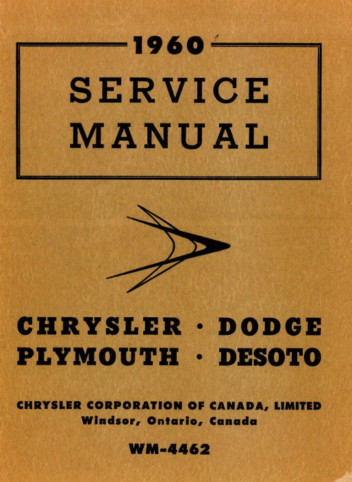 1959 1960 chrysler dodge plymouth desoto imperial service manual rh repairmanual com 1968 plymouth service manual 1970 plymouth service manual
