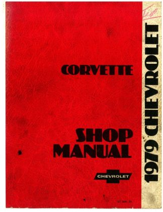 Used 1979 Chevrolet Corvette Shop Manual