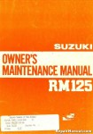 Used 1983 Suzuki RM125D Factory Owners Maintenance Manual