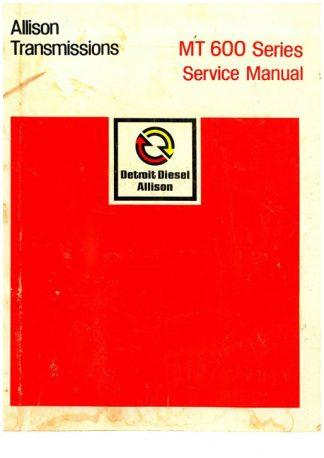 Allison MT 600 Series Transmission Service Manual