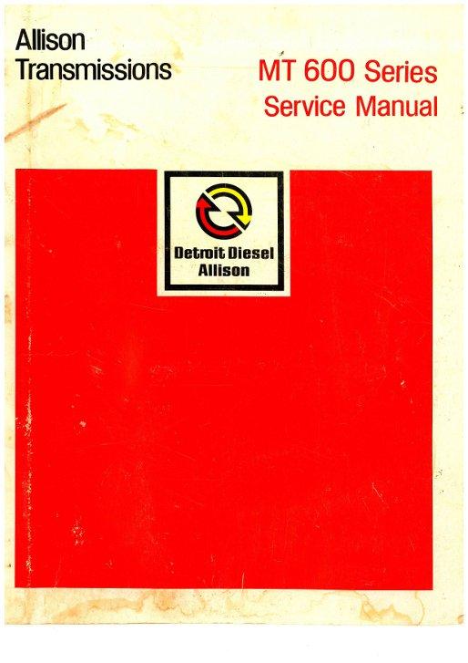 Allison Marine Transmissions service manual