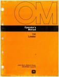 Used John Deere 110 Loader Operators Manual