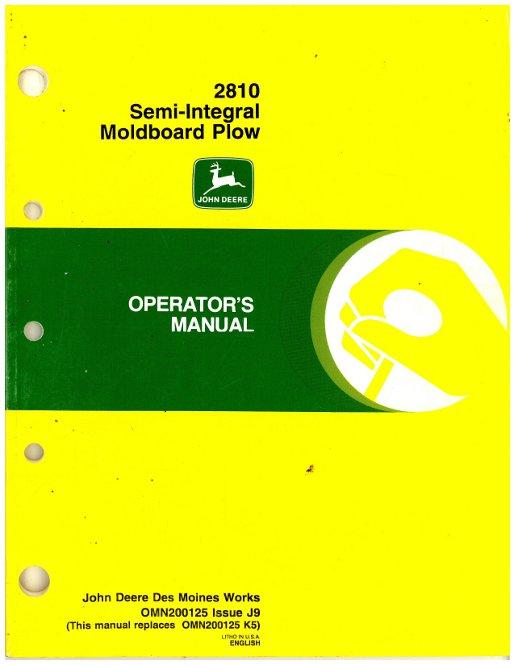 used john deere 610 series drawn chisel plow operator manual john deere 2150 owners manual John Deere 2350