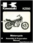 Official 1980 Kawasaki KZ550C1 LTD Motorcycle Assembly Preparation Manual