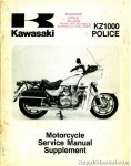 Official 1986-2001 Kawasaki KZ1000P5 Police Service Manual Supplement
