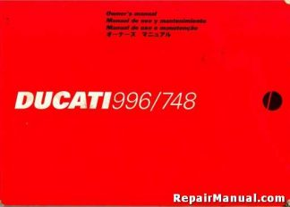 Used Official 1999 Ducati 996 And 748 Motorcycle Factory Owners Manual