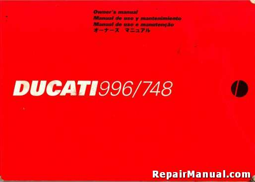 used 1999 ducati 996 and 748 motorcycle owners manual rh repairmanual com porsche 996 transmission service manual porsche 996 service manual