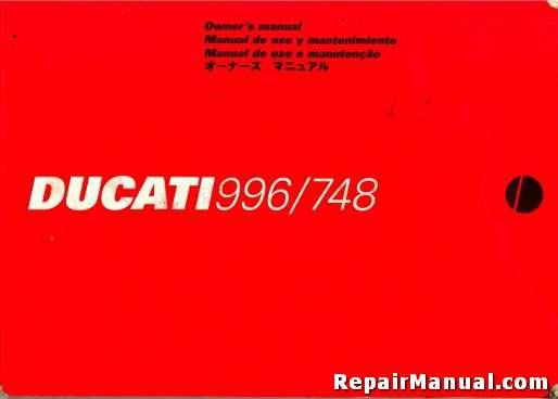 Ducati user manuals user manuals array used 1999 ducati 996 and 748 motorcycle owners manual rh repairmanual fandeluxe Images