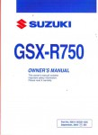 Used Official 2005 Suzuki GSX-R750K5 Owners Manual