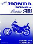 Official Honda 1983 VT750C 1984-1985 VT700C Shadow Service Manual
