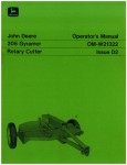 Used Official John Deere 205 Gyramor Factory Operators Manual