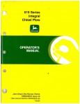 Used Official John Deere 610 Series Integral Chisel Plow Factory Operators Manual