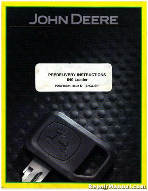 used john deere 840 loader predelivery instructions manual rh repairmanual com john deere x125 user's manual john deere x305r user manual