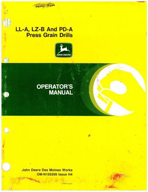 John Deere Grain Drill Manuals