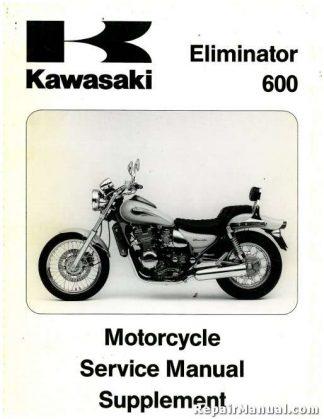 used 1995 1996 kawasaki zl600b service manual supplement rh repairmanual com kawasaki zl 600 eliminator service manual 1986 Kawasaki 900 Eliminator Specs