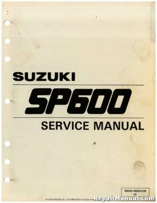 Used 1985 Suzuki SP600 Factory Service Manual