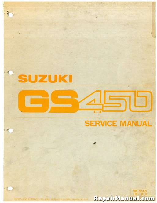 1979 1988 suzuki gs450 motorcycle service manual rh repairmanual com Suzuki Wiring Harness Diagram 1987 suzuki gs450l wiring diagram