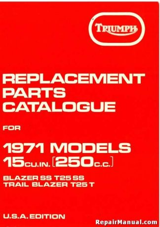 Triumph Replacement Parts for 1971 250cc Motorcycles